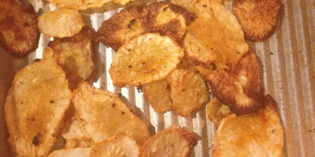 how to cook radish chips